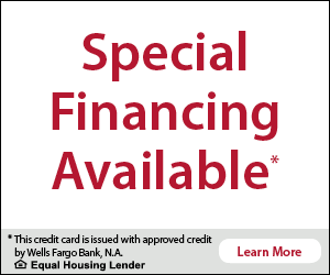 Special Financing Available from Wells Fargo